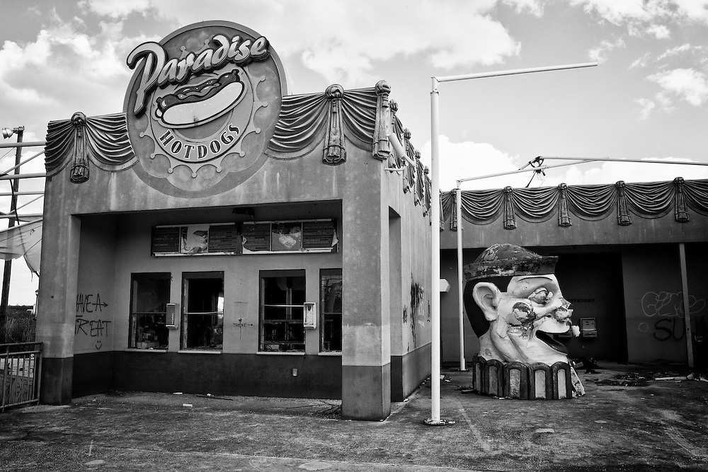 Paradise Dogs at Six Flags in East New Orleans - five years later after Hurricane Katrina.