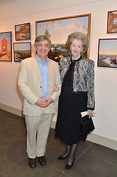 Artist PHILIP BOUCHARD and RAINE, COUNTESS SPENCER at a private view of work by artist Philip Bouchard at 508 Gallery, 508 King's Road, London on 3rd April 2014.