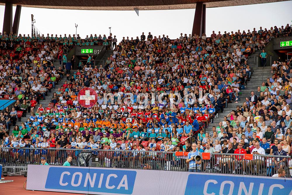 Spectators sectors during the Iaaf Diamond League meeting (Weltklasse Zuerich) at the Letzigrund Stadium in Zurich, Switzerland, Thursday, Aug. 29, 2019. (Photo by Patrick B. Kraemer / MAGICPBK)
