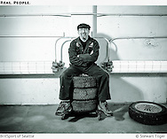 Portrait of BritSport owner in his paint room.