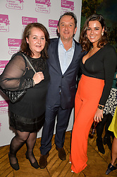 Left to right, PATRICE VAN HELDEN, ROB VAN HELDEN and HANNAH YOUNG at an Evening of Riviera Inspired Glamour in aid of CLIC Sargentheld at Sketch, 9 Conduit Street, London on 25th January 2016.