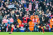 Andrej Kramarić (Croatia) celebrates his goal during the UEFA Nations League match between England and Croatia at Wembley Stadium, London, England on 18 November 2018.