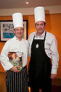 20110324-Carolina,PR-El Hotel Intercontinental celebro su actividad Chef of the Month con el Sr. Miguel Rivas como Chef invitado.  Este compartio la tarea de cocinar un menú del libro de cocina de la cadena de Hoteles Intercontinental, junto al Chef Ejecutivo Hector Campos. En la foto Hector Campos y Miguel Rivas.