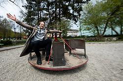 Portrait of an actor Nik Skrlec, on April 14, 2021 in Tivoli, Ljubljana, Slovenia. Photo by Vid Ponikvar / Sportida