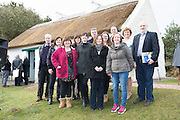 28/03/2016 Foireann RnaG Pictured at Pearse's Cottage, Teach an Phiarsaigh, in Rosmuc in Connemara during a special broadcast of RTÉ Raidió na Gaeltachta programme Adhmhaidin on Easter Monday 28 March 2016.  <br /> <br /> Patrick Pearse used the cottage as a summer house, and also as summer school for his pupils from St Enda's school in Dublin.  He was inspired by the people and the culture of the area, and it is said that he composed the graveside oration he gave at O'Donovan Rossa's funeral in 1915 there.<br /> <br /> The broadcast was to commemorate the centenary of the Easter Rising, and also marked 30 years on air for the programme.  <br /> Photo:Andrew Downes, xposure.
