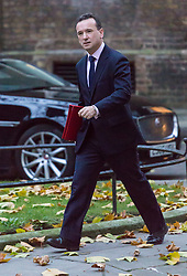 London, November 22 2017. Secretary of State for Wales Alun Cairns attends the UK cabinet meeting at Downing Street. © Paul Davey