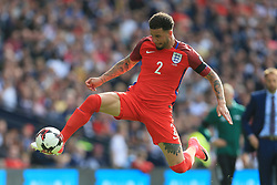 10th June 2017 - 2018 FIFA World Cup Qualifying (Group F) - Scotland v England - Kyle Walker of England leaps to control the ball - Photo: Simon Stacpoole / Offside.