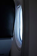 airplane window during flying