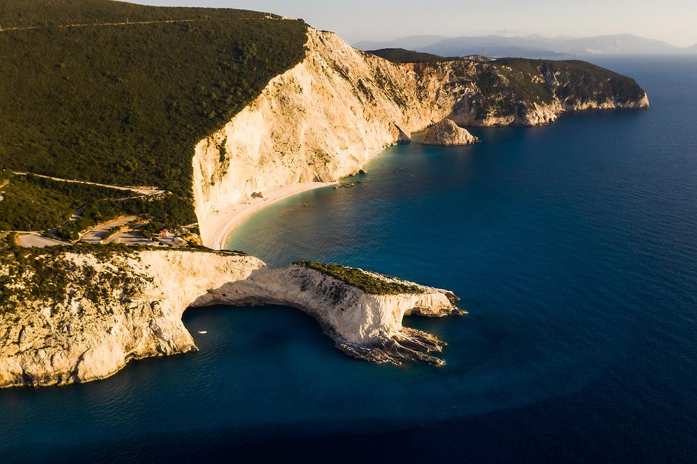 Porto Katsiki beach at the island of Lefkada, Greece