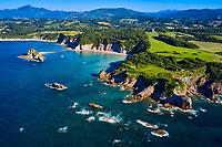 France, Pyrénées-Atlantiques (64), Pays Basque, Hendaye, la Pointe Sainte Anne, Baie de Loia // France, Pyrénées-Atlantiques (64), Basque Country, Hendaye, Pointe Sainte Anne, Bay of Loia