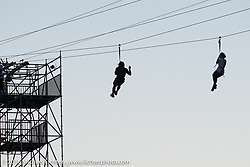 The Buffalo Chip's Zip Line on Saturday before the Weird Al Yankovic concert during the annual Sturgis Black Hills Motorcycle Rally. SD, USA. August 13, 2016. Photography ©2016 Michael Lichter.