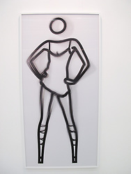 Julian Opie : Shahnoza dancing in white dress - 2007