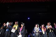 San Jose State students celebrate during the Humanities convocaton at San José State University's Rose Garden in San Jose, California, on May 23, 2013. (Stan Olszewski/SOSKIphoto)