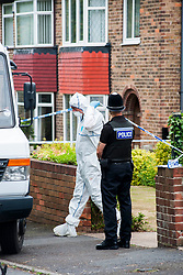 Police  launched double murder investigation following discovery of two female bodies in Wath upon Dearne Rotherham South Yorkshire.Police Have cordoned off 131 Sandygate a bungalow in Wath Upon Dearn and locals say police have been at the scene since Yesterday 22nd July<br /> <br /> 23 July 2013<br /> Image © Paul David Drabble<br /> www.pauldaviddrabble.co.uk