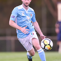 BRISBANE, AUSTRALIA - JANUARY 9: Josh McVey of City in action during the Kappa Silver Boot Group B match between Brisbane City and Souths United on January 9, 2018 in Brisbane, Australia. (Photo by Patrick Kearney)