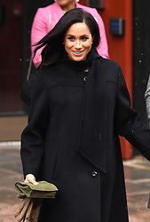 The Duchess of Sussex after their visit to the Bristol Old Vic Theatre. Picture Credit Should Read: Doug Peters/EMPICS