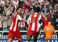 Photo: Kevin Poolman.<br />Wolverhampton Wanderers v Southampton. Coca Cola Championship. 31/03/2007. Mark Saganowski and Bradley Wright-Phillips celebrate Southampton's sixth goal.