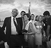 George Plimpton, Richard Holbrooke, Katie Marton, Matthew Broderick, Jessica Parker  at the Talk magazine launch. New York. 2 September 1999.<br />© Copyright Photograph by Dafydd Jones<br />66 Stockwell Park Rd. London SW9 0DA<br />Tel 0171 733 0108