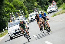 Nik Cemazar of Slovenija National Team (R) competes during 1st Stage of 25th Tour de Slovenie 2018 cycling race between Lendava and Murska Sobota (159 km), on June 13, 2018 in  Slovenia. Photo by Vid Ponikvar / Sportida