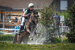 Verwip Jarno (BEL) - Hambroek's Benthe<br /> Nationaal Kampioenschap Eventing Pony's <br /> LRV Gavere 2014<br /> © Dirk Caremans