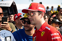 March 16, 2019 - Albert Park, VIC, U.S. - ALBERT PARK, VIC - MARCH 16: Scuderia Ferrari Mission Winnow driver Charles Leclerc arrives at The Australian Formula One Grand Prix on March 16, 2019, at The Melbourne Grand Prix Circuit in Albert Park, Australia. (Photo by Speed Media/Icon Sportswire) (Credit Image: © Steven Markham/Icon SMI via ZUMA Press)