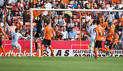 Inverness Caledonian Thistle's Josh Meekings (6) scoring their goal. <br /> Dundee United 1 v 1 Inverness Caledonian Thistle, SPFL Ladbrokes Premiership game played 19/9/2015 at Tannadice.