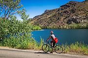 Cycling the June Lake Loop at Silver Lake, Inyo National Forest, June Lake, California USA
