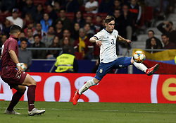 March 22, 2019 - Madrid, Madrid, Spain - Argentina's Nicolas Alejandro Tagliafico  seen in action during the International Friendly match between Argentina and Venezuela at the wanda metropolitano stadium in Madrid. (Credit Image: © Manu Reino/SOPA Images via ZUMA Wire)
