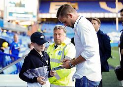 Everton's new signing Gylfi Sigurdsson signs autographs for fans on arrival at Goodison Park  - Mandatory by-line: Matt McNulty/JMP - 17/08/2017 - FOOTBALL - Goodison Park - Liverpool, England - Everton v Hajduk Split - UEFA Europa League First Playoff Round - First Leg