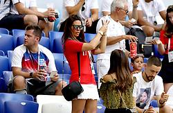 Rebekah Vardy, wife of Jamie Vardy before the FIFA World Cup, Quarter Final match at the Samara Stadium.