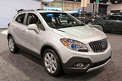 CHARLOTTE, NC, USA - November 11, 2015: Buick Encore on display during the 2015 Charlotte International Auto Show at the Charlotte Convention Center in downtown Charlotte.
