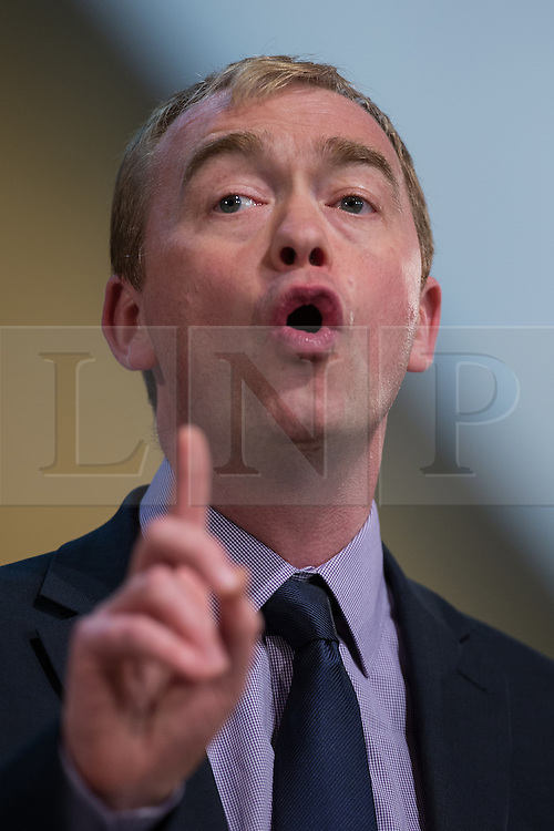 ** FILE PIC - Tim Farron has been elected leader of the Liberal Democrat Party** © Licensed to London News Pictures . 07/10/2014 . Glasgow , UK . TIM FARRON , President of the Liberal Democrats and MP for Westmorland and Lonsdale , delivers his speech to the conference . The Liberal Democrat Party Conference 2014 at the Scottish Exhibition and Conference Centre in Glasgow . Photo credit : Joel Goodman/LNP