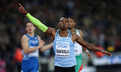 Botswana's Isaac Makwala finishes second in the men's 200m semi-final during day six of the 2017 IAAF World Championships at the London Stadium.