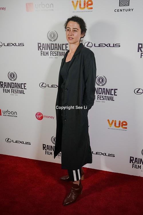 London, England, UK. 25th September 2017. Director Laura Schroeder of Barrage attend Raindance Film Festival Screening at Vue Leicester Square, London, UK
