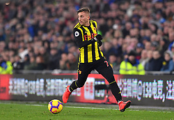 Watford's Gerard Deulofeu in action during the Premier League match at the Cardiff City Stadium.