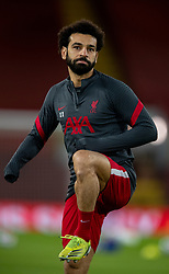 LIVERPOOL, ENGLAND - Thursday, March 4, 2021: Liverpool's Mohamed Salah during the pre-match warm-up before the FA Premier League match between Liverpool FC and Chelsea FC at Anfield. Chelsea won 1-0 condemning Liverpool to their fifth consecutive home defeat for the first time in the club's history. (Pic by David Rawcliffe/Propaganda)