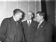 07/01/1954<br /> 01/07/1945<br /> 07 January 1954  <br /> <br /> <br /> Professor John Busteed (Cork University) Chairman at Labour Unity Talks<br /> <br /> <br /> John Busteed (1895–1964), economist, was born 30 June 1895 at Mayfield, a suburb of Cork city, son of John Busteed, ship's steward, and Mary Busteed (née Hickey). Educated at the North Monastery School, Cork, he was the first recipient of the Honan scholarship to UCC (1913) In failing health for about a year, he died 9 August 1964 at the Bons Secours nursing home. He and his wife Mary had three sons and two daughters and lived at Ceann Mara, Blackrock Road, Cork.