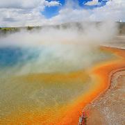 Steaming Geyser Pool - Cyanobacteria - Yellowstone National Park
