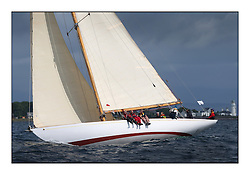 The final day of racing of the Fife Regatta on the King's Course North of Great Cumbrae<br /> Solway Maid, Roger Sandiford, GBR, Bermudan Cutter, Wm Fife 3rd, 1940<br /> <br /> <br /> * The William Fife designed Yachts return to the birthplace of these historic yachts, the Scotland's pre-eminent yacht designer and builder for the 4th Fife Regatta on the Clyde 28th June–5th July 2013<br /> <br /> More information is available on the website: www.fiferegatta.com