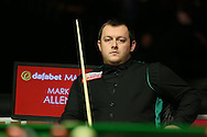 Mark Allen (NI) looking on, Marco Fu (HK) v Mark Allen (NI) , Quarter-Final match at the Dafabet Masters Snooker 2017, at Alexandra Palace in London on Thursday 19th January 2017.<br /> pic by John Patrick Fletcher, Andrew Orchard sports photography.