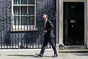 London, United Kingdom, May 28, 2021: UK Health Secretary Matt Hancock leaves Ten Downing Street on Friday, May 28, 2021. Hancock feels the heat over the care home tests as calls for his resignation are increasing. (Photo by Vudi Xhymshiti)