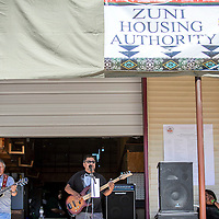 Midnight Rain take the stage for a set during the Zuni Housing Authority Fair in Zuni Friday.