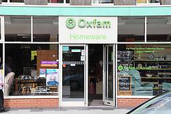 Oxfam homeware charity shop