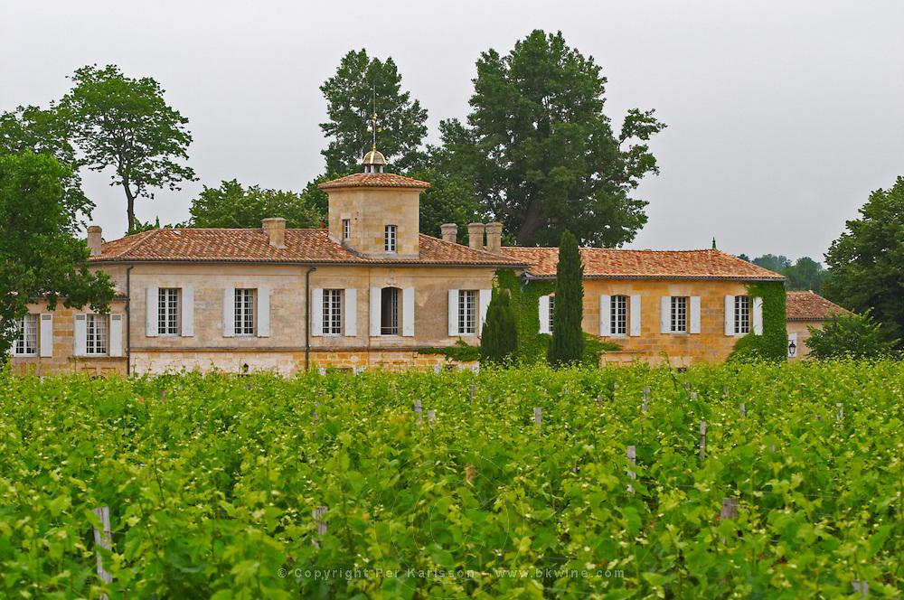 Chateau Gazin and its vineyard  Pomerol  Bordeaux Gironde Aquitaine France