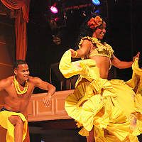 South America, Brazil, Rio. Dancing couple at the Plataforma Show in Rio.