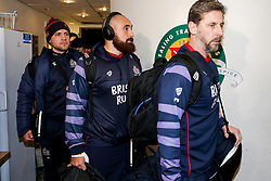 James Lay and Ian Madigan of Bristol Rugby arrive - Rogan/JMP - 10/02/2018 - RUGBY UNION - Trailfinders Sports Ground - Ealing Trailfinders v Bristol Rugby - Greene King IPA Championship.