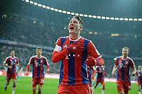 Fotball <br /> Tyskland<br /> 27.02.2015<br /> Foto: Witters/Digitalsport<br /> NORWAY ONLY<br /> <br /> 1:0 Jubel Torschuetze Bastian Schweinsteiger (Bayern) <br /> <br /> Fussball Bundesliga, FC Bayern München - 1. FC Köln