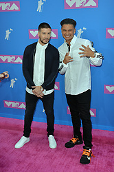 August 20, 2018 - New York, New York, United States - Vinny Guadagnino and Paul DelVecchio arriving at the 2018 MTV Video Music Awards at Radio City Music Hall on August 20, 2018 in New York City  (Credit Image: © Kristin Callahan/Ace Pictures via ZUMA Press)