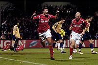 Fotball<br /> Foto: ProShots/Digitalsport<br /> NORWAY ONLY<br /> <br /> AZ - Grasshopper<br /> <br /> 15-12-2005 , UEFA cup , 1-0 , Danny Koevermans viert de 1-0