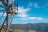 Nordhoff Peak Lookout Tower, in Ojai, California.